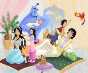 yapboz Yasemin ve Aladdin ailesi